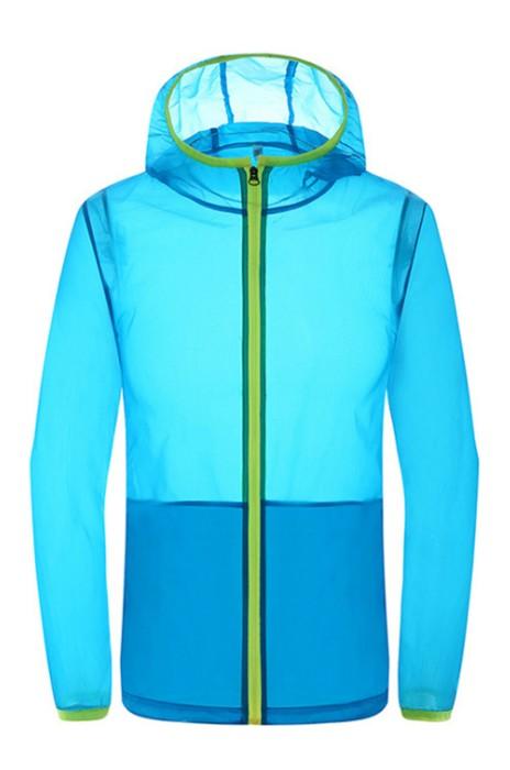 SKJ017  大量訂購戶外皮膚衣 設計速乾衣防風沖鋒衣 防曬衣 皮膚風褸製造商