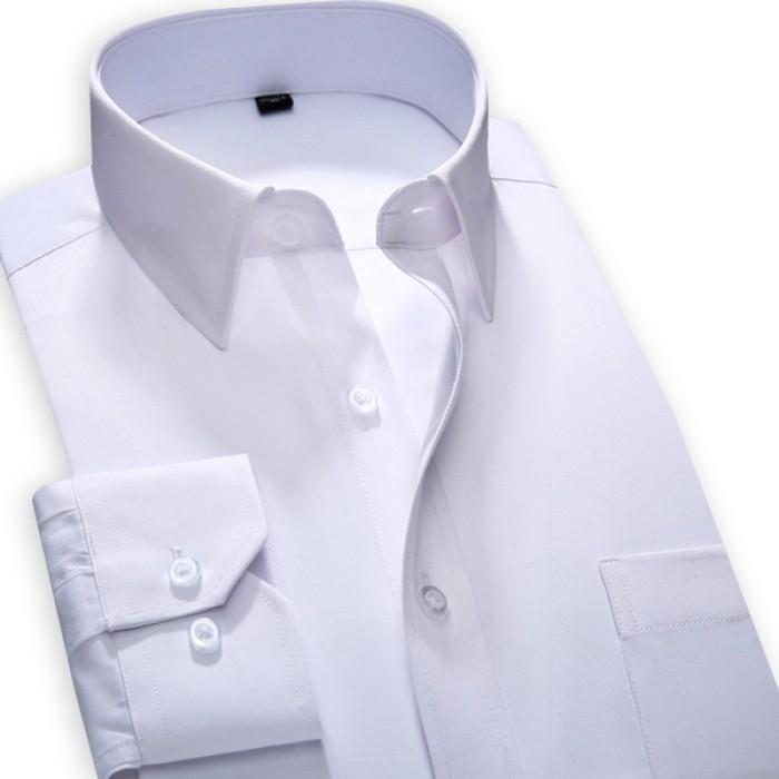 SKR001 訂造男士純色長袖恤衫  設計修身免燙職業裝恤衫 個人設計商務恤衫  恤衫製造商