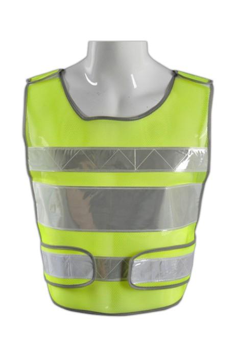 TB 黃網白條EN471梳織高亮反光背心 LK#001 度身訂造螢光團體作業服 高光工業背心款式 反光服生產廠家  反光背心價格
