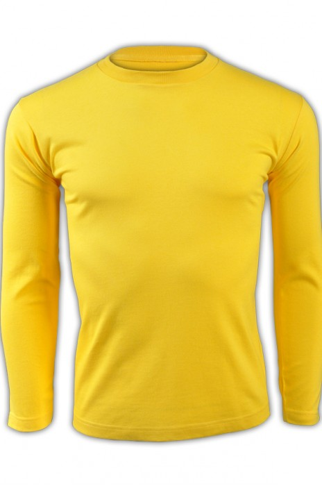 printstar 鮮黃色165長袖男裝T恤 00101-LVC 來款訂製活力彩色純色T恤 團體制服T恤 T恤專門店  T恤價格