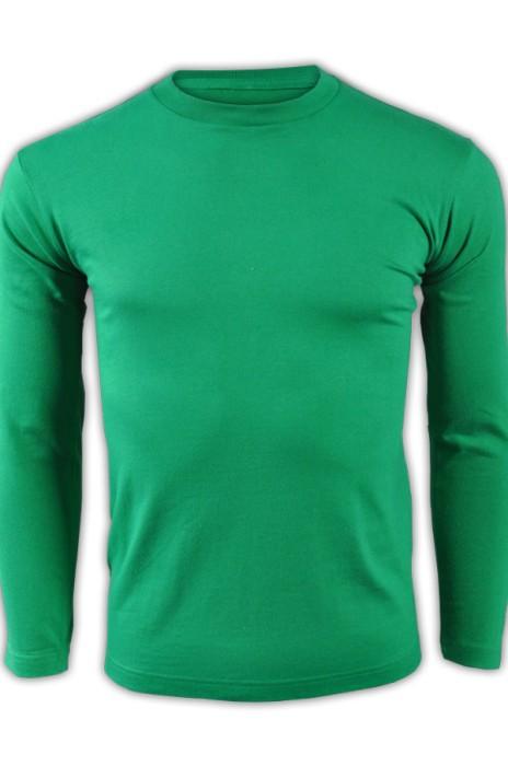 printstar 翠綠色025長袖男裝T恤 00101-LVC 來樣訂造運動透氣T恤 舒適全棉T恤 T恤批發商  T恤價格