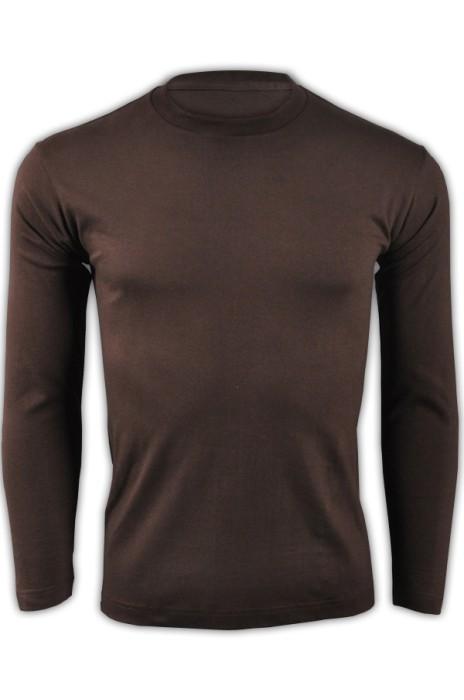printstar 巧克力色168長袖男裝T恤 00101-LVC DIY男裝休閒T恤 彈性運動T恤 T恤專門店  T恤價格
