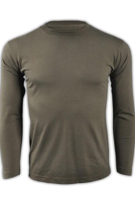 printstar 橄欖色128長袖男裝T恤 00101-LVC 來款訂製純棉透氣T恤 運動吸汗T恤 T恤生產商  T恤價格