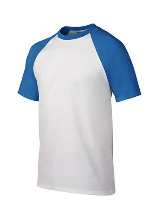 Gildan 白色/藍色FE030短袖男装T恤 76500 現貨T恤印字 透氣T恤 T恤繡字 T恤價格