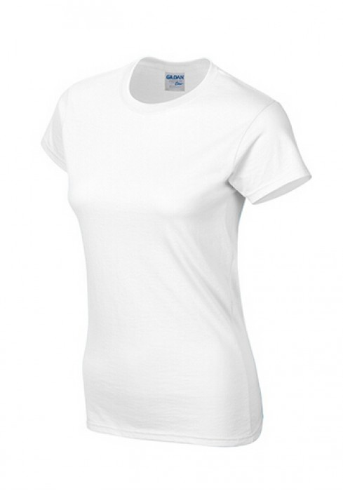 Gildan 白色 030 短袖女圓領T恤 76000L 女裝T恤速印  透氣T恤 T恤供應商 T恤價格