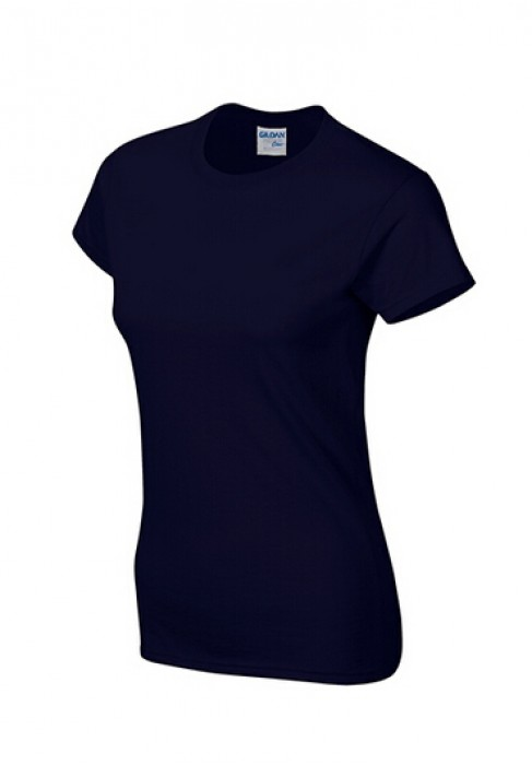 Gildan 寶藍色 032 短袖女圓領T恤 76000L T恤印字 T恤繡字 女裝T恤印logo T恤價格
