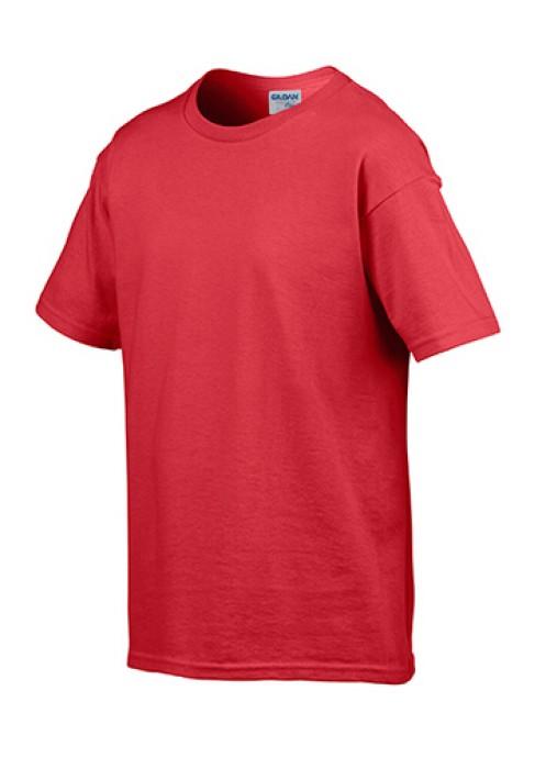 Gildan 紅色040 短袖兒童圓領T恤 76000B 批發童裝T恤 純色童裝T恤訂製 速印T恤 T恤價格