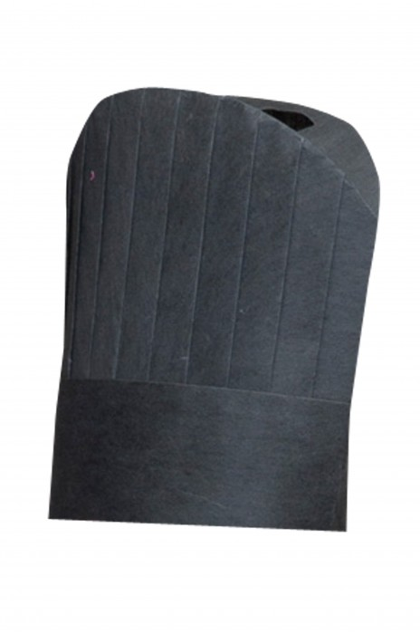 CHFH-001 黑色廚師帽 製造廚師帽紙帽子  供應一次性植物纖維黑廚師帽帽  訂購廚師紙帽子 廚師帽製造商  100%植物纖維 廚師帽價格