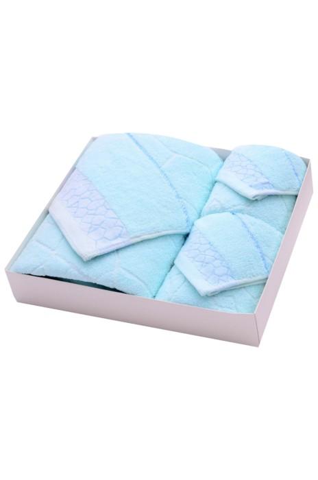 SKTW025 訂購毛巾三件套禮盒裝  純棉水立方浴巾套裝   活動禮品毛巾批發 70*140cm  35*75cm