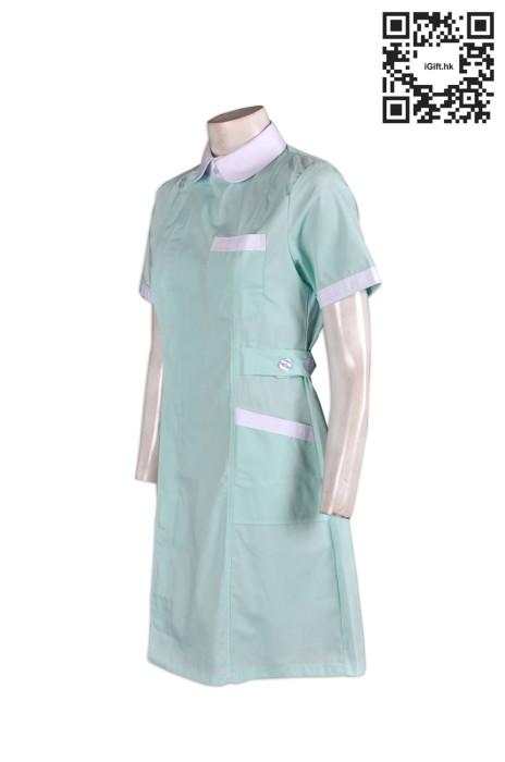 SKNU010  訂做公主領診所制服  訂購護士服  訂製醫院制服  設計診所制服款式 診所制服供應商HK  舒特呢  診所制服價格