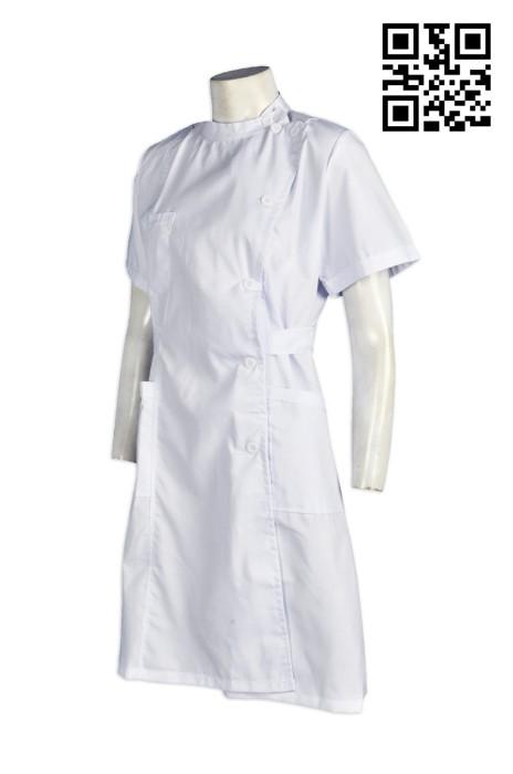 SKNU015 訂購純色短袖護士服  設計診所制服款式  診所制服訂造  護士制服專門店  舒特呢  護士服價格