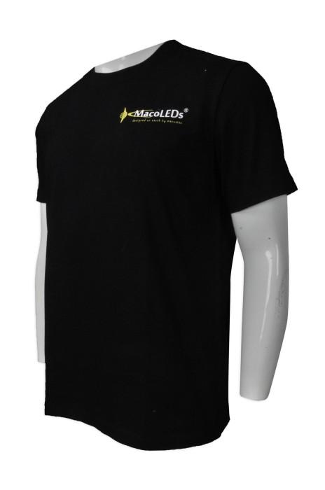 T828 團體訂做男裝圓領短袖T恤 網上下單男裝圓領短袖T恤 設計印花logo款短袖T恤製造商