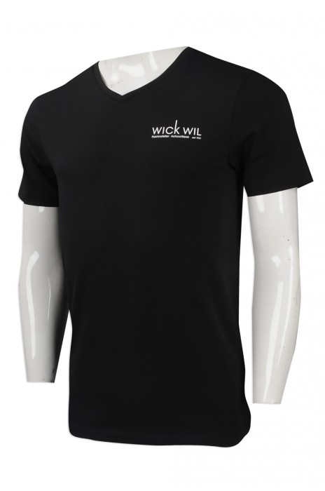 T876 設計圓領短袖T恤  訂購印字logoT恤 俄羅斯 wickwil 來樣訂造T恤 T恤製造商
