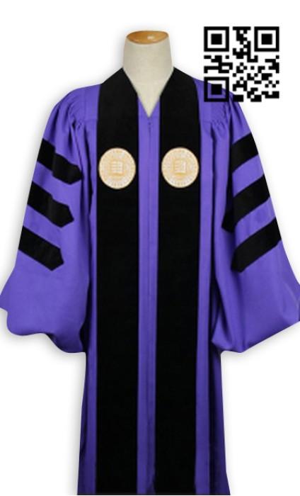 SKDA010 度身訂造畢業袍  網上下單學士服 大學校長袍  來樣訂造博士服 畢業袍製造商  畢業袍價格
