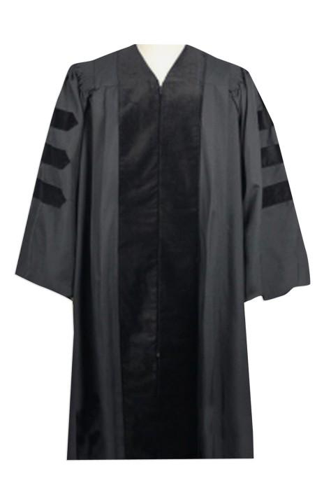SKDA016 訂購黑色專業畢業袍   大量訂造大學拍照禮服  做身訂造畢業袍 畢業袍hk中心