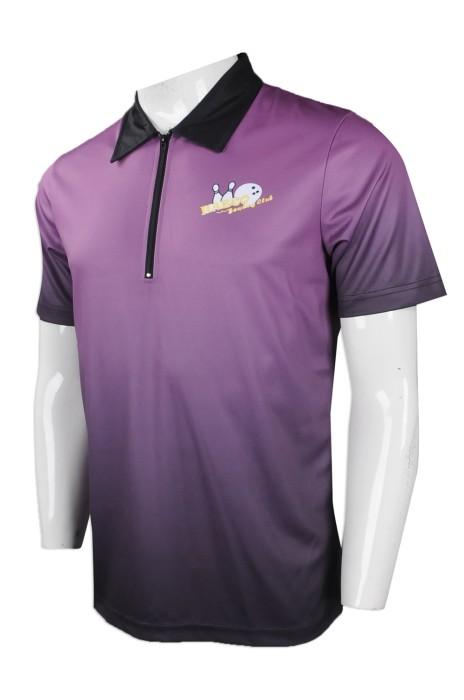 P926 網上訂購男裝短袖Polo恤 團體訂做男裝短袖Polo恤 保齡球隊衫 碌ling會衫 碌齡 熱升華 短袖Polo恤生產商