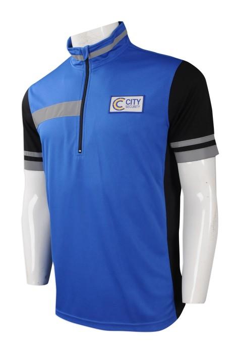 P945 網上下單制服POLO恤 設計反光帶短袖POLO恤 企領反光單車衫 自訂制服POLO恤製造商