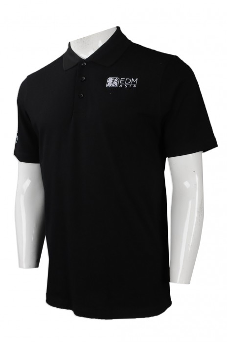 P954 網上下單男裝短袖POLO恤 自訂繡花LOGO款POLO恤 設計POLO恤製衣廠