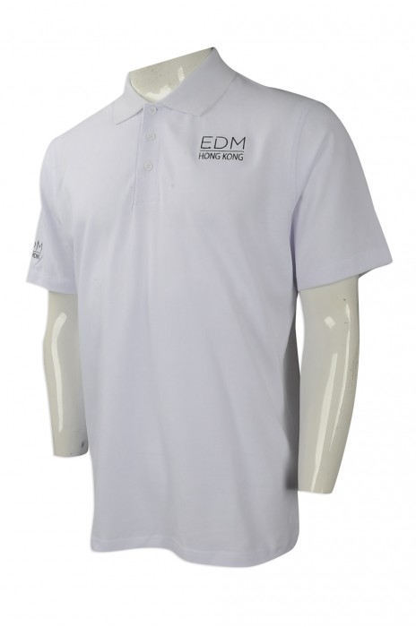 P958 度身訂做男裝短袖POLO恤 訂造繡花LOGO款POLO恤 設計短袖POLO恤生產商