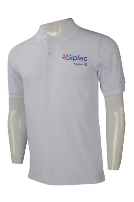 P972 網上下單男裝短袖polo恤 團體訂做男裝短袖polo恤款式電子配件行業 制服 香港 訂做polo恤專營店