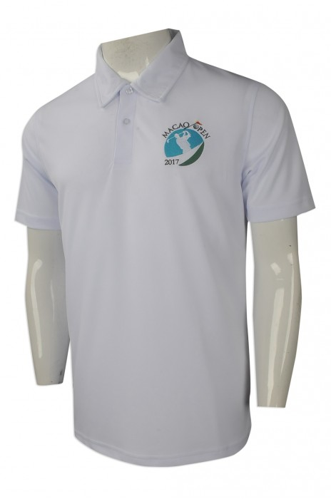 P973 度身訂做男裝短袖polo恤 團體訂購男裝polo恤款式 澳門 哥爾夫球公開賽比賽 訂造polo恤專營店