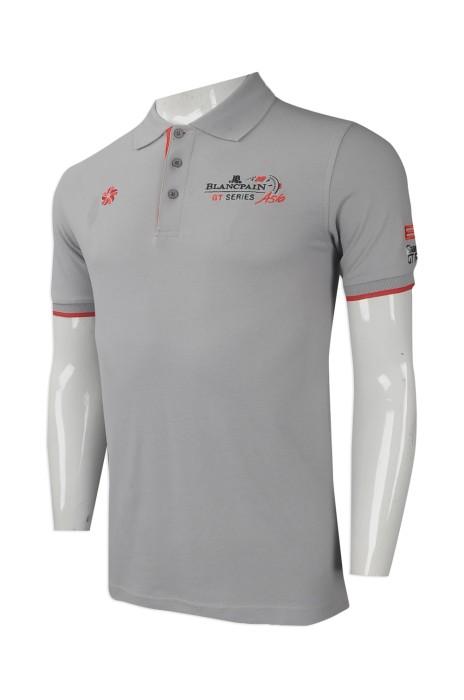 P974 來樣訂做男裝短袖polo恤 網上下單男裝短袖polo恤 車隊衫 設計男裝polo恤專營店