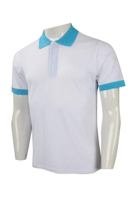 P979 大量訂做男裝短袖polo恤 團體訂購男裝短袖polo恤 印製淨色短袖polo恤專營店