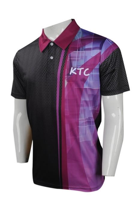 P981 度身訂做男裝短袖polo恤 製作熱昇華短袖polo恤 九龍塘會 設計短袖polo恤供應商