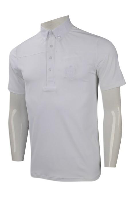 P983 網上下單男裝短袖polo恤 度身印製短袖polo恤 澳洲 HH 馬術 POLO 製作短袖polo恤專營店