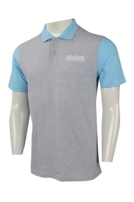 P986 網上訂購男裝短袖polo恤 設計撞色領polo恤 製作短袖polo恤供應商