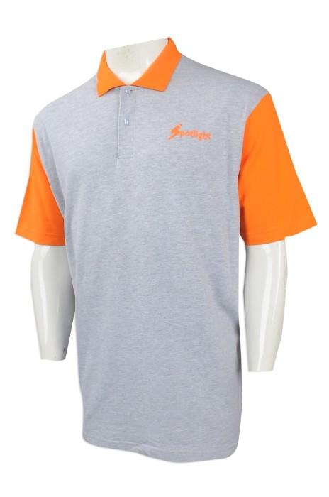 P993 設計撞色袖Polo恤   製作印花Polo恤  來樣訂造短袖Polo恤 Polo恤專營