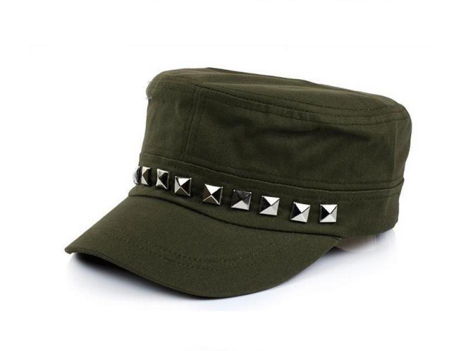 SKFC008 設計鉚釘時尚平頂帽 供應個性平頂帽 製作平頂帽 平頂帽專營 平頂帽價格