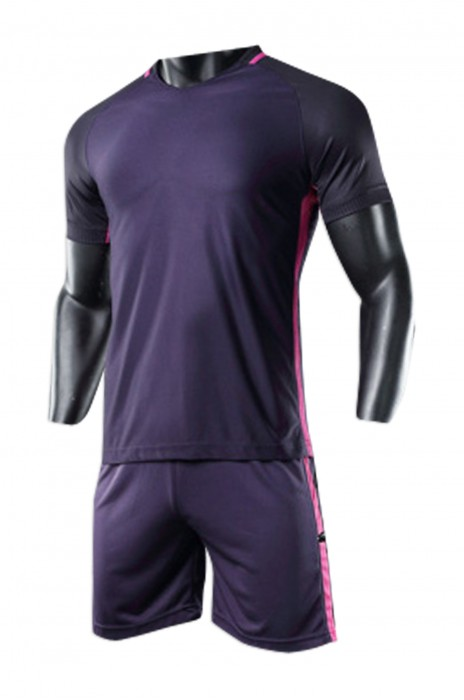 SKTF020 供應足球服套裝   成人光板足球衣定制 訂購印號兒童比賽訓練服隊服