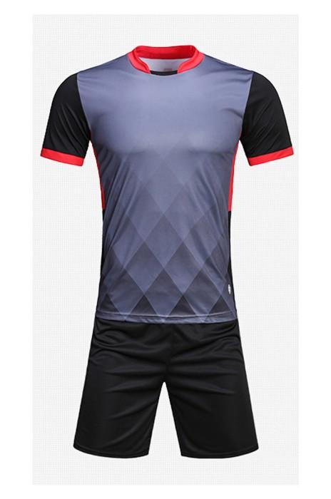SKTF021  訂購足球服套裝 男成人光板足球訓練服 足球隊服訂制 短袖足球球衣 運動服製造商