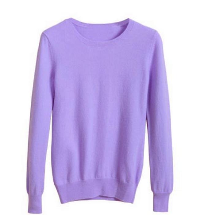SKSW001 訂購圓領打底羊絨衫  供應純色針織羊毛衫  網上下單毛衣 毛衣供應商 毛衣價格