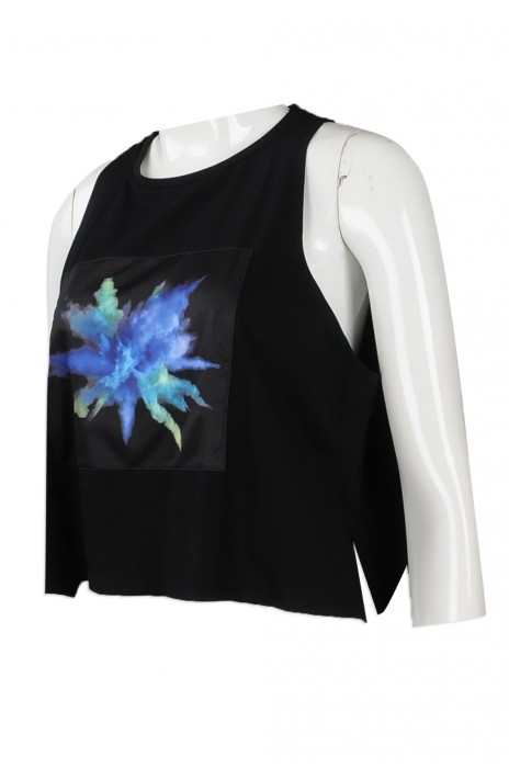 VT185 度身訂製背心T恤 設計圖案款背心T恤 澳門 露腰 肚臍 T恤  生產商