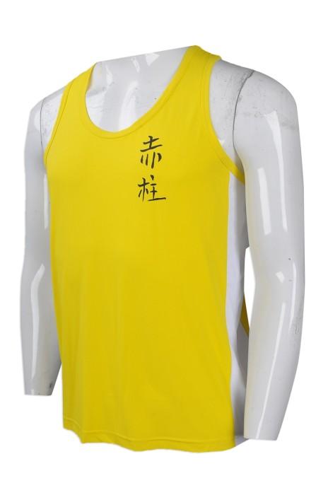 VT186 團體訂製男裝背心T恤 自製團體活動背心T恤 設計  田徑跑步 背心T恤 批發商