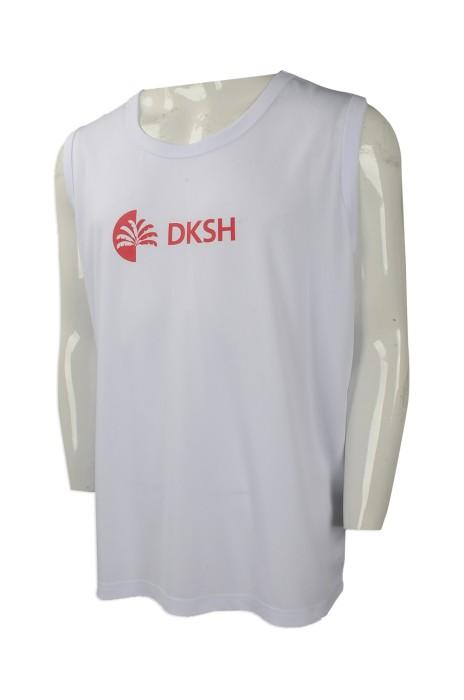 VT203 度身訂做背心T恤 網上下單背心T恤款式 製作背心T恤生產商