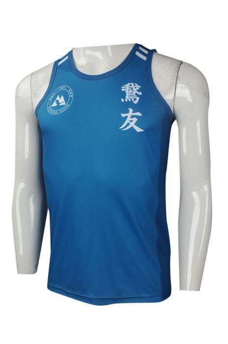 VT206 網上訂購男裝背心T恤 大量訂做背心T恤款式 香港 跑步會背心 跑友會 運動背心T恤供應商