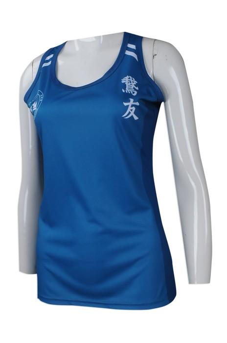 VT207 來樣訂做女裝背心T恤 團體訂購女裝背心T恤款式 香港 跑步會背心 跑友會 女裝背心 訂做運動背心T恤生產商