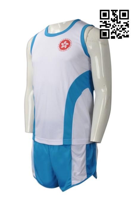 WTV136 自訂休閒運動套裝款式   訂做背心運動套裝款式  羽毛球 隊衫  製造運動套裝款式   運動套裝製衣廠