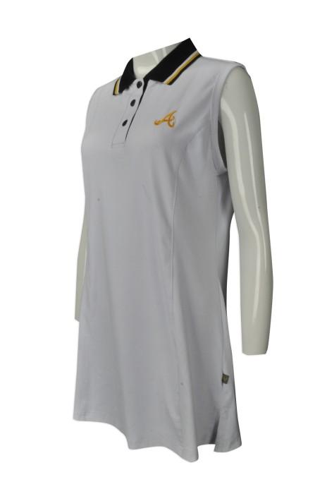 WTV147 來樣訂做女裝運動裙 大量訂購運動裙裝款式 網球連身裙 直身裙款 POLO 長裙 女裝運動裙專營店
