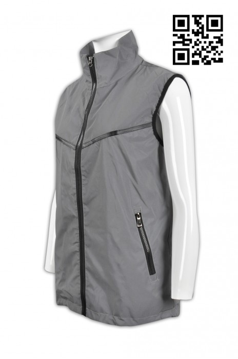 V152 設計個性反光背心外套 製造全件反光背心外套  冇袖風褸 網上下單背心外套 背心外塔製造商