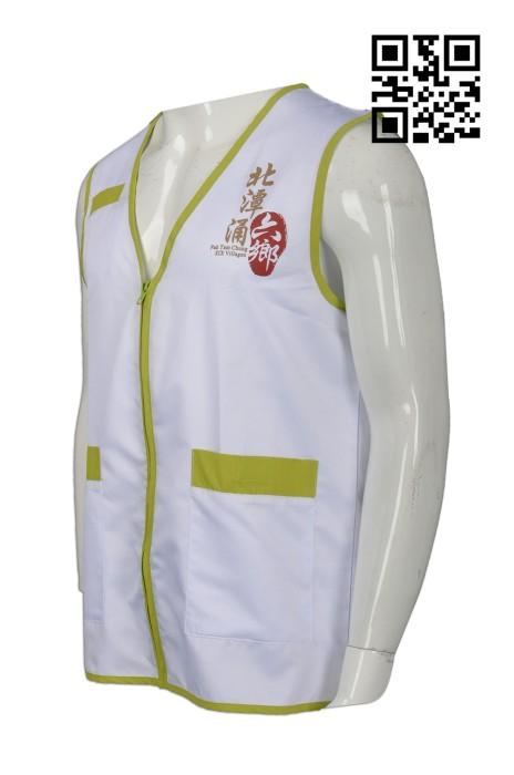 V156 製造度身背心外套款式   自訂LOGO背心外套款式   撞色義工背心  訂做背心外套款式   背心外套廠房