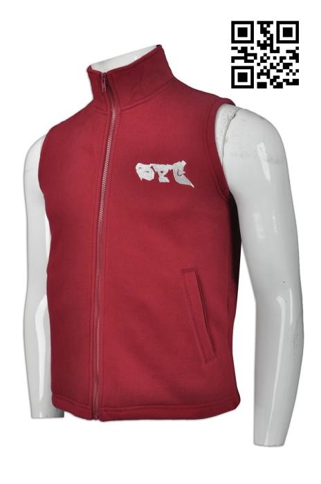 V172 設計男裝背心外套款式   訂做LOGO背心外套款式   針織衛衣背心  自訂背心外套款式  背心外套廠房