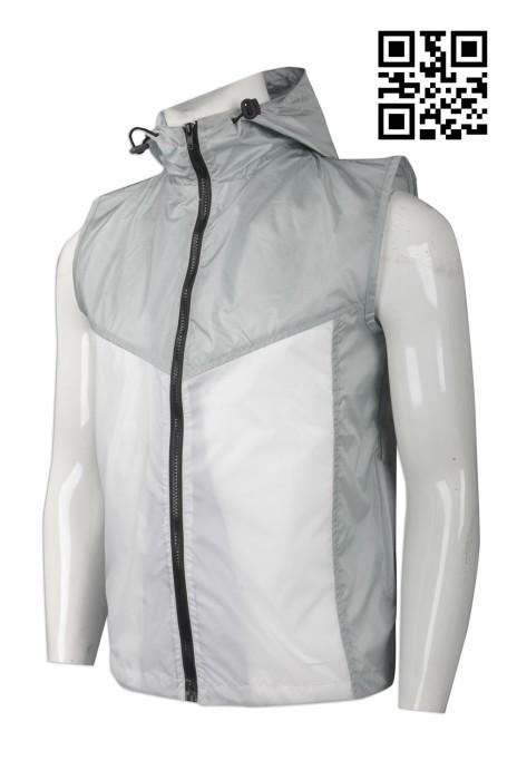 V158 訂造輕薄型背心外套  設計工作背心外套 超薄背心 輕薄有帽背心 冇袖風褸 大量訂造背心外套 背心外套hk中心