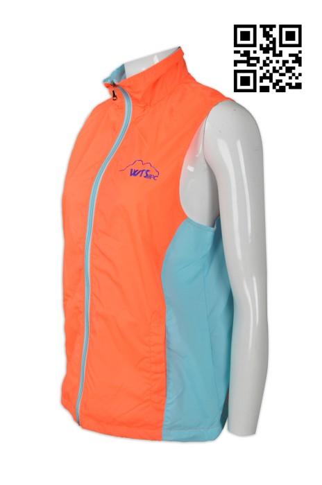 V163  印製拼色背心外套 網上下單背心外套 來樣訂造背心外套 背心外套製造商