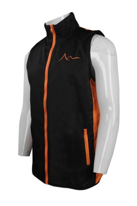 V173 來樣訂造團體背心外套 設計撞色 自製印花logo教會背心 冇袖風褸  背心外套供應商