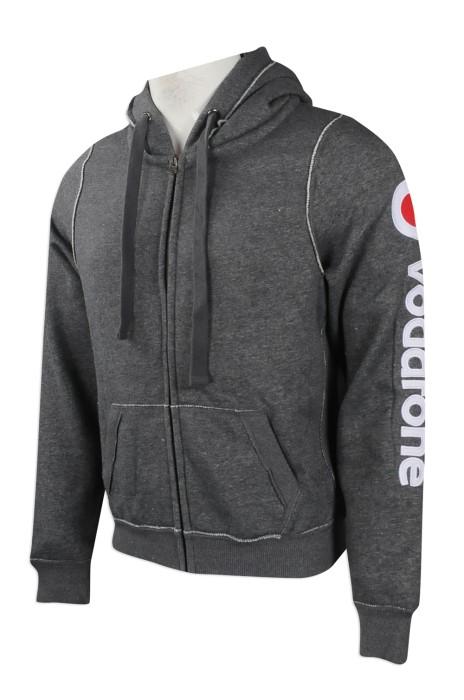 Z380 團體訂做衛衣外套款式 大量訂購帶帽款衛衣 英國  VODAFONE 衛衣製造商
