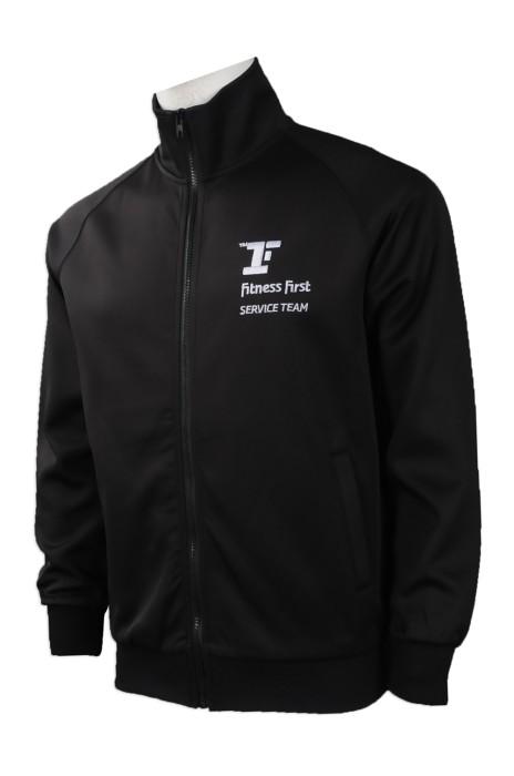J760 網上訂做風褸外套 團體訂購風褸外套款式 健身行業 員工制服 客製風衣外套 自訂風褸外套製衣廠